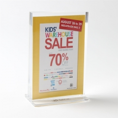 A6 Acrylic Sign Holder