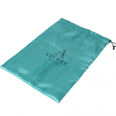 Custom Drawstring Satin Shoe Bag With Logo Printed