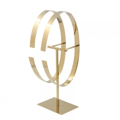 Polished Gold Belt Display Stand
