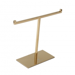 Polished Gold T-Bar Jewelry Display Stand