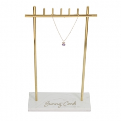 Polished Gold Marble Neck Display Stand