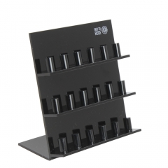 Black 3 Layer Acrylic Ring Display Stand