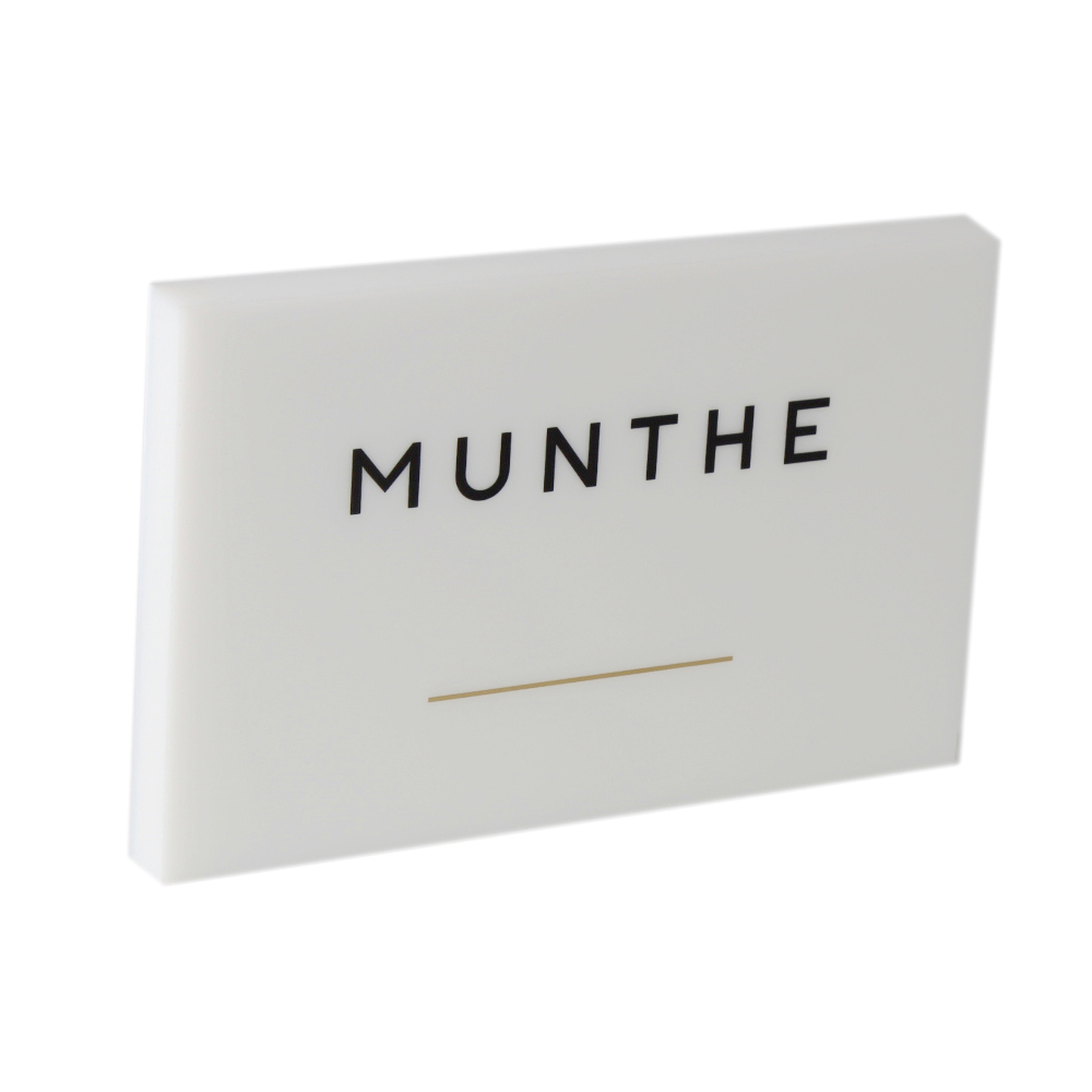 Solid Acrylic Block with Logo