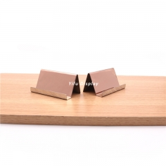 Rose Gold Metal Desktop Business Card Holder