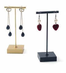 Gold T-Bar Earrings Display Stand