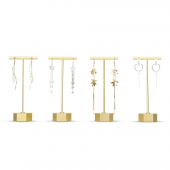 Gold Earring T Display Stand